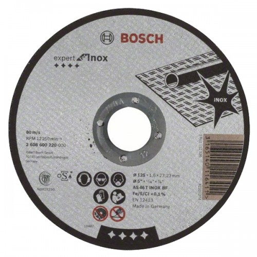 Disc Bosch Professional 125 x 1.6 pentru taiere inox