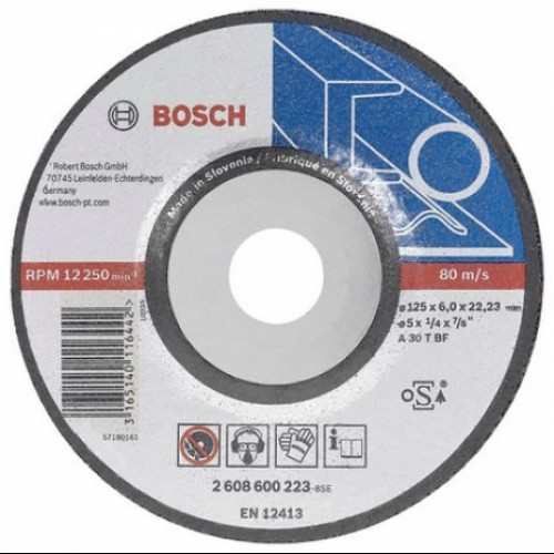 Disc Bosch Professional 125 x 6 pentru slefuire metal