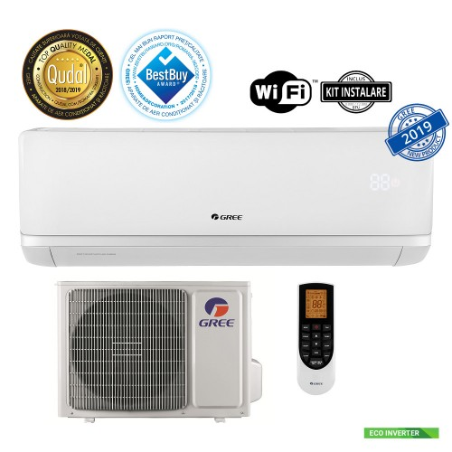 Aer conditionat split Eco inverter Gree Bora A2 White 9000 BTU