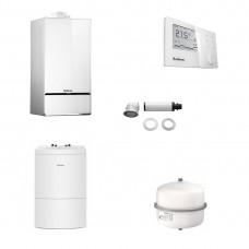 Pachet Buderus LOGAMAX PLUS GB172i 35 W H Alb + termostat RC310 + boiler 160 litri