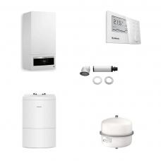 Pachet Buderus LOGAMAX PLUS GB062-24H V2 24 kw + termostat RC310 + boiler 120 litri