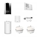Buderus LOGAMAX PLUS GB172-42 i H Negru + termostat RC310 + boiler 160 litri