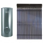 Panou solar cu tuburi vidate Viessmann Vitosol 200-TM + boiler 300 litri