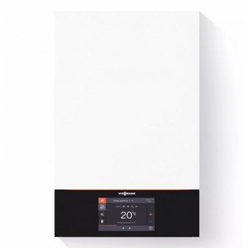 """Centrala termica cu condensare Viessmann Vitodens 200-W B2HE cu display 3.5"""", 25 kW, boiler bivalent 300 litri"""