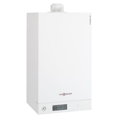Centrala termica cu condensare Viessmann Vitodens 100-W, 26 kW Incalzire, boiler monovalent 120 litri