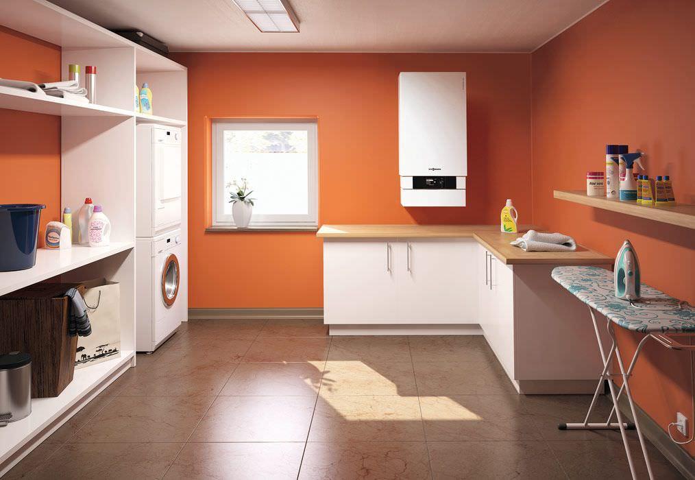 centrala termica cu condensare viessmann vitodens 200 w 120 kw. Black Bedroom Furniture Sets. Home Design Ideas